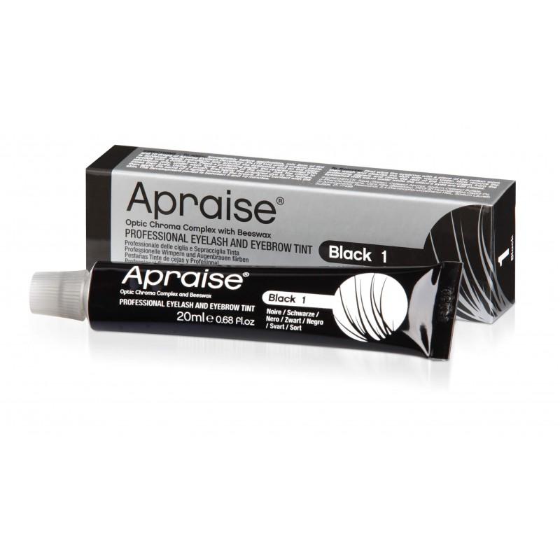 APRAISE® profesionalūs antakių ir blakstienų dažai Nr. 1, juodi, 20 ml